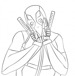 Printable Deadpool Coloring Pages   171703