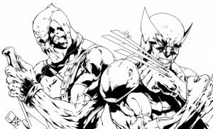 Printable Deadpool Coloring Pages Online   184768