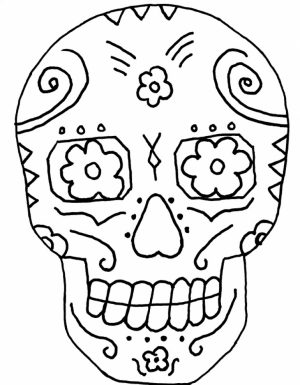 Printable Dia De Los Muertos Coloring Pages   9wchd