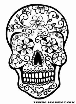 Printable Dia De Los Muertos Coloring Pages   p79hb