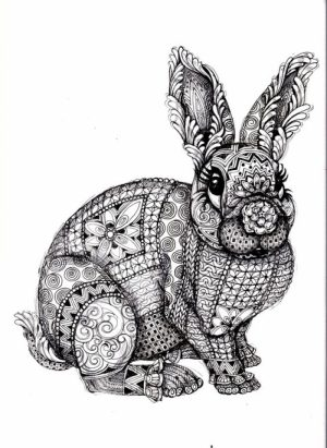 Printable Difficult Animals Coloring Pages for Adults   65D