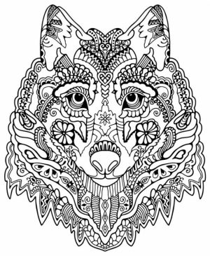 Printable Difficult Animals Coloring Pages for Adults   667H