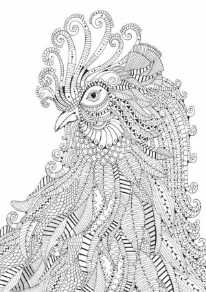 Difficult Animals Coloring Pages for Adults