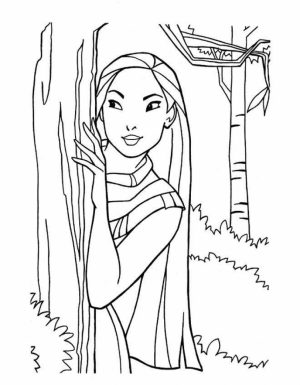 Printable Disney Princess Coloring Pages Online   184772