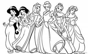 Printable Disney Princess Coloring Pages Online   781020