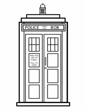 Printable Doctor Who Coloring Pages for Kids   BV21Z