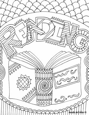 Printable Doodle Art Coloring Pages for Grown Ups   6796V