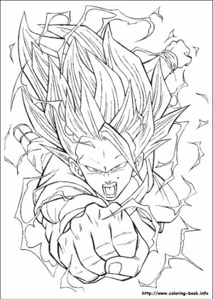 Printable Dragon Ball Z Coloring Pages Online   82744