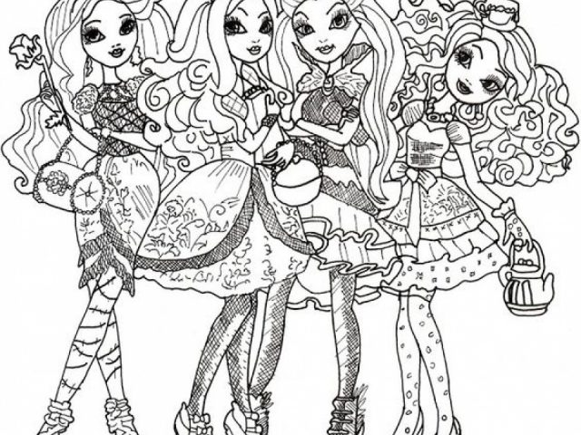 colouring pages ever after high get this printable ever after high coloring pages 58425 - Ever After High Coloring Pages