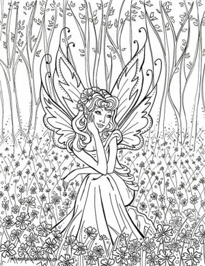 Printable Fairy Coloring Pages Online   95845