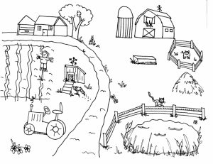 Printable Farm Coloring Pages Online   FOH6R