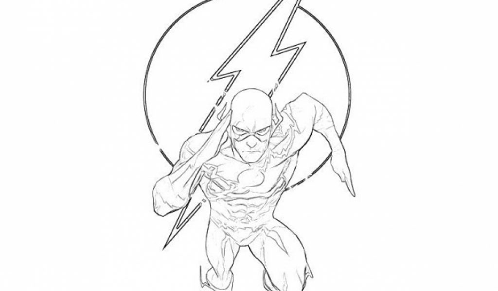 Get This Printable Flash Coloring Pages Online Vu6h27
