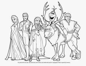 Printable Frozen Coloring Pages   808710
