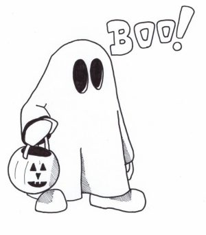 Printable Ghost Coloring Pages Online   51321