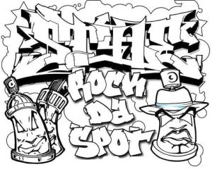 Printable Graffiti Coloring Pages Online   21065