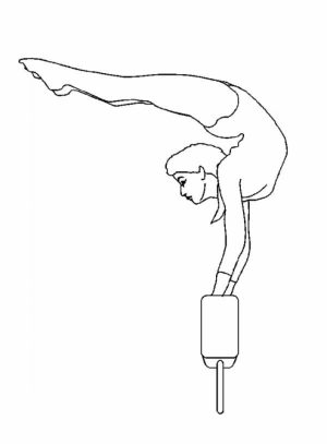 Printable Gymnastics Coloring Pages Online   4auxs