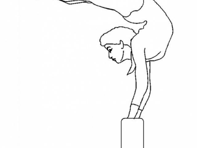 Get This Printable Gymnastics Coloring Pages Online 4auxs