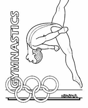 Printable Gymnastics Coloring Pages   p79hb