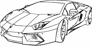 Printable Lamborghini Coloring Pages Online   64038