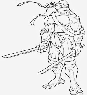 Printable Ninja Turtle Coloring Page   78757