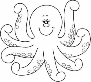Printable Octopus Coloring Pages   yzost