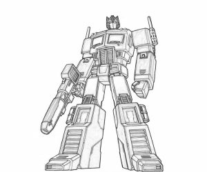 Printable Optimus Prime Coloring Page for Kids   5prtr
