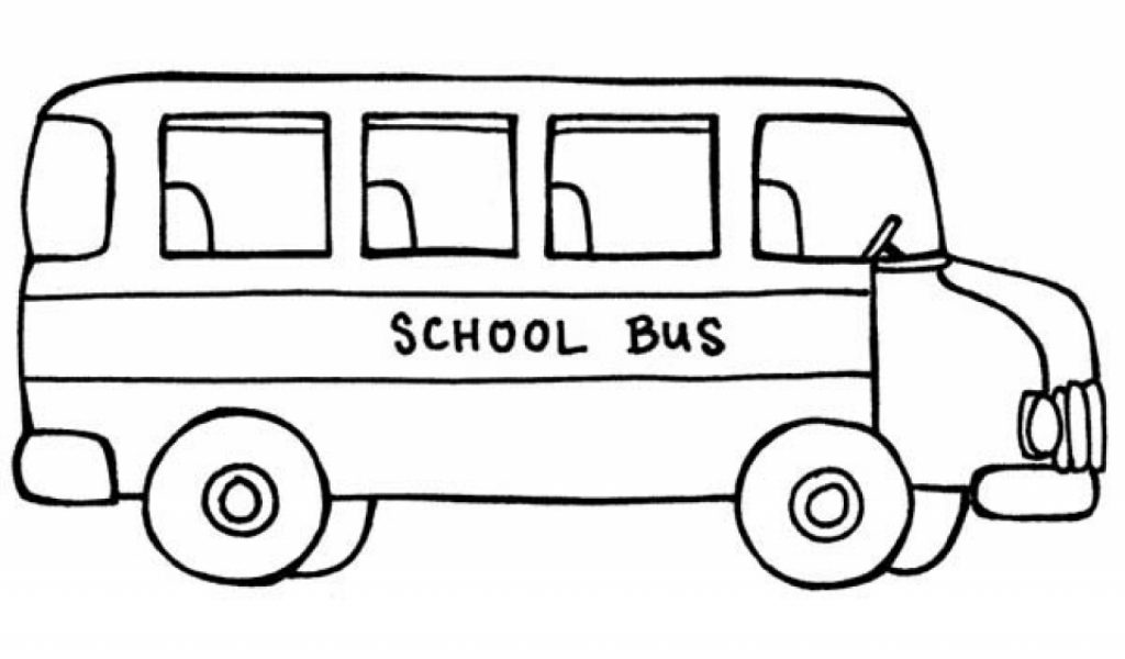 school bus coloring pages