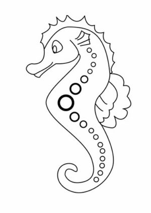 Printable Seahorse Coloring Pages   87126