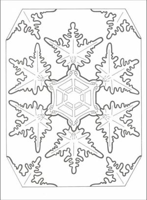 Printable Snowflake Coloring Pages for Adults   33617