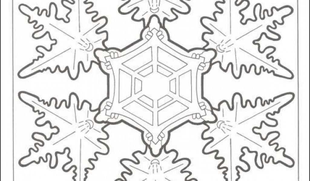Get This Printable Snowflake Coloring Pages For Adults 33617