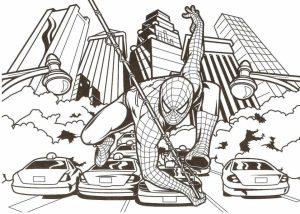 Printable Spiderman Coloring Pages   810597