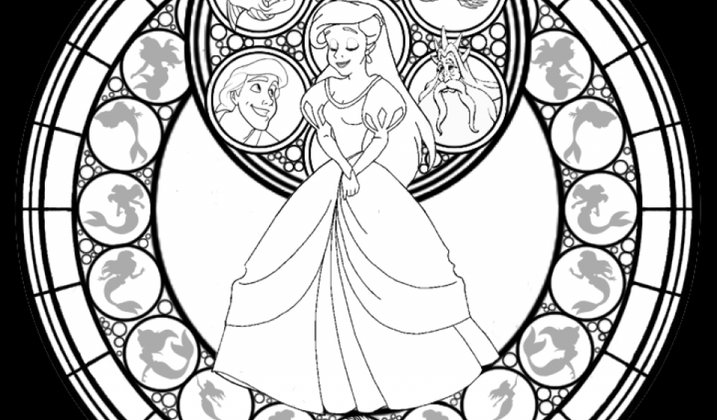 Get This Printable Stained Glass Coloring Pages 64912