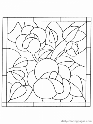 Printable Stained Glass Coloring Pages Online   05278