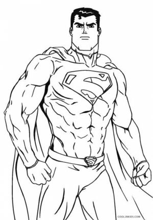 Printable Superman Coloring Pages Online   71825