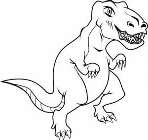 Printable T Rex Coloring Pages   41558