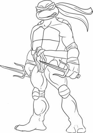 Printable Teenage Mutant Ninja Turtles Coloring Pages   18008