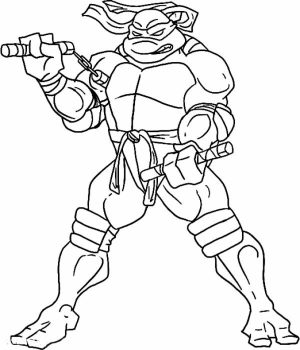 Printable Teenage Mutant Ninja Turtles Coloring Pages Online   46802