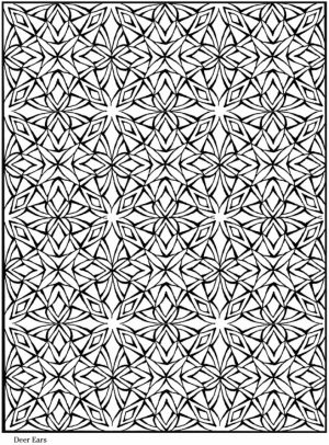 Printable Tessellation Coloring Pages Free   2V58C