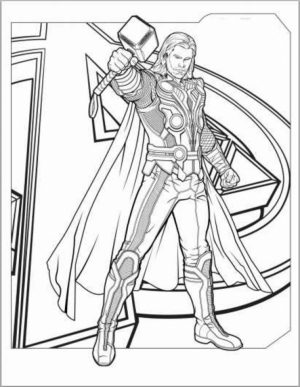 Printable Thor Coloring Pages   41558