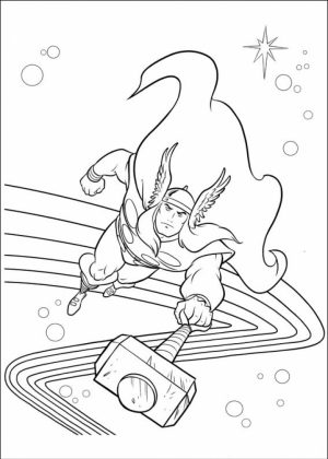Printable Thor Coloring Pages Online   59307