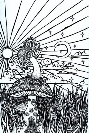 Printable Trippy Coloring Pages for Grown Ups   GA93V