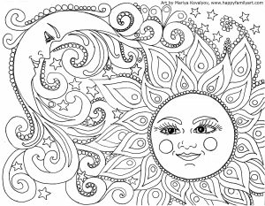 Printable Trippy Coloring Pages for Grown Ups   KL6DS