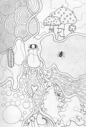 Printable Trippy Coloring Pages for Grown Ups   TSV62
