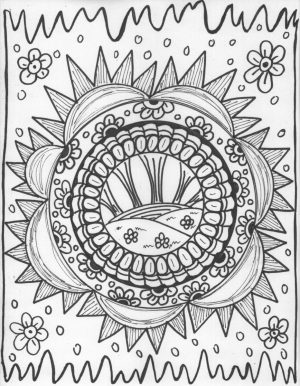 Printable Trippy Coloring Pages for Grown Ups   US7A1
