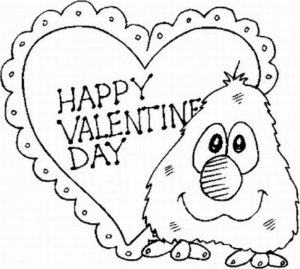 Printable Valentines Coloring Pages   4421