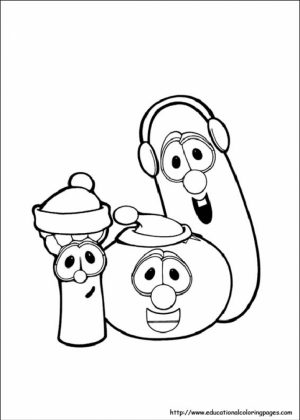 Printable Veggie Tales Coloring Pages Online   mnbb6
