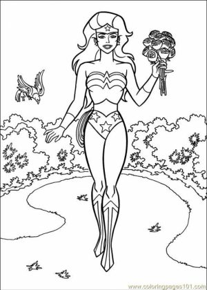Printable Wonder Woman Coloring Pages Online   gvjp9