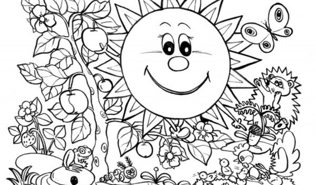 Nature Coloring Pages Online Coloring Pages