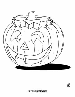 Pumpkin Halloween Coloring Pages for Preschoolers   77491