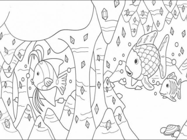 Get this rainbow fish coloring pages free 6cvg2 for Rainbow fish coloring pages